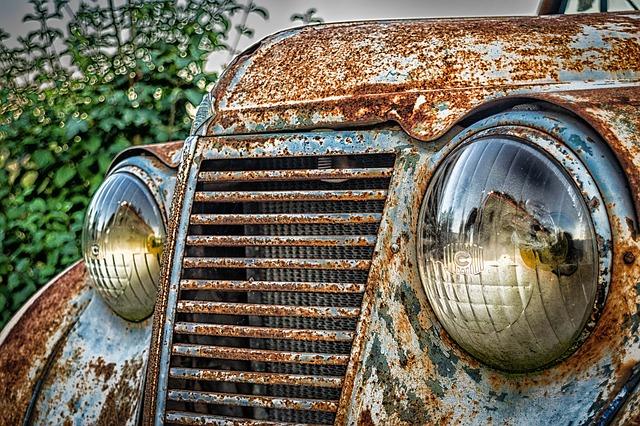 zrezlé auto